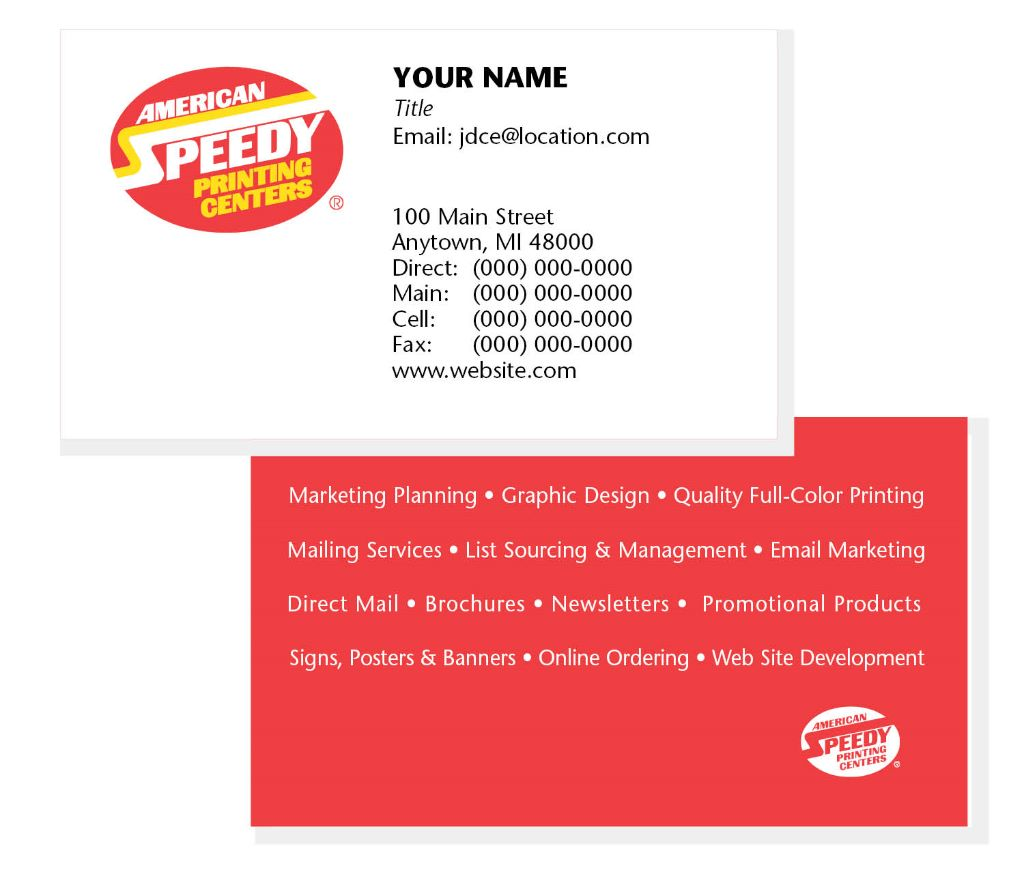 How to make your business card a real keeper american speedy how to make your business card a real keeper american speedy printing marketing print signs harwood heights il reheart Choice Image